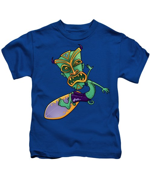 Tiki Surfer Kids T-Shirt
