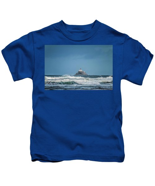 Tillamook Rock Lighthouse Near Cannon Beach Kids T-Shirt