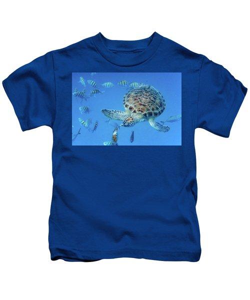 Turning Turtle Kids T-Shirt