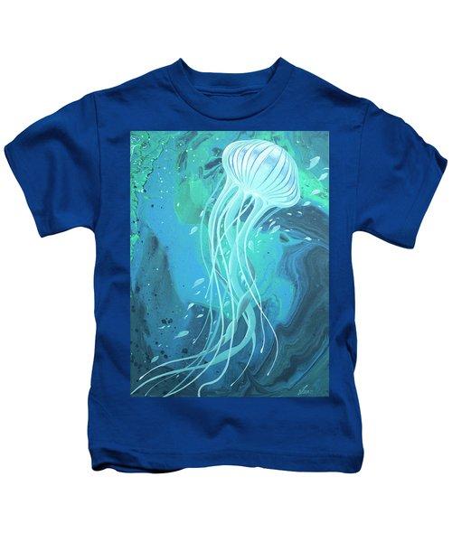 White Jellyfish Kids T-Shirt