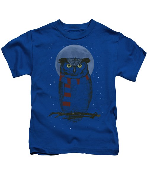 Winter Owl Kids T-Shirt