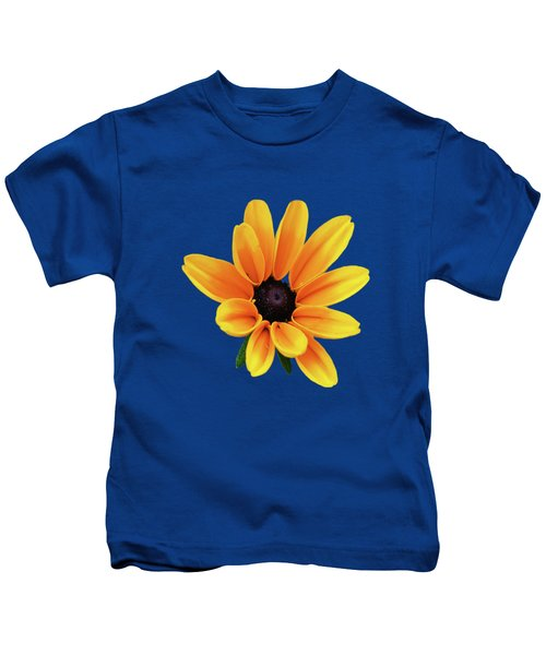 Yellow Flower Black Eyed Susan Kids T-Shirt