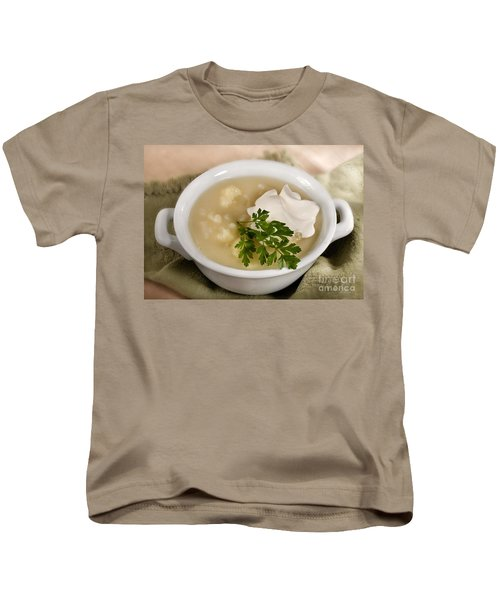 Cauliflower Soup Kids T-Shirt by Iris Richardson