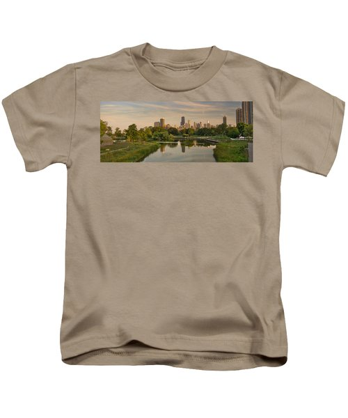 Lincoln Park Lagoon Chicago Kids T-Shirt