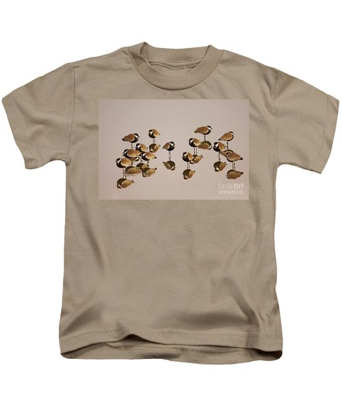 Spur-winged Lapwing Vanellus Spinosus Kids T-Shirt by Eyal Bartov