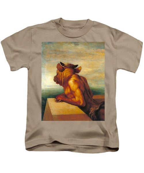 The Minotaur Kids T-Shirt by George Frederic Watts