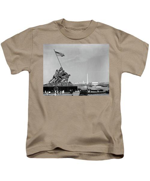 1960s Marine Corps Monument Kids T-Shirt