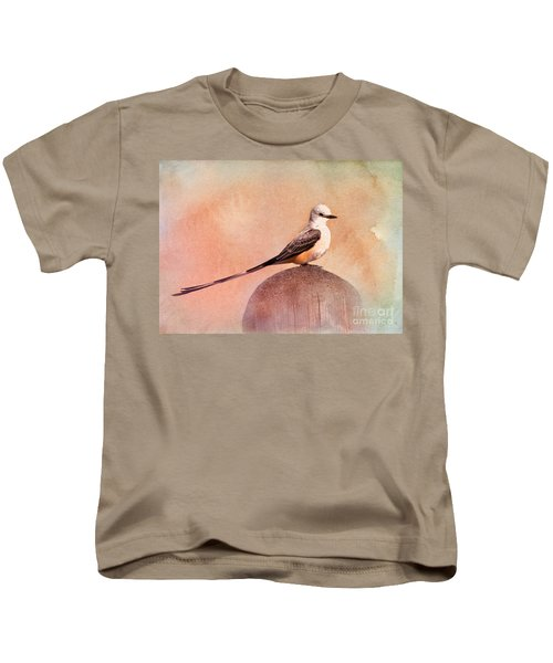 Scissor-tailed Flycatcher Kids T-Shirt