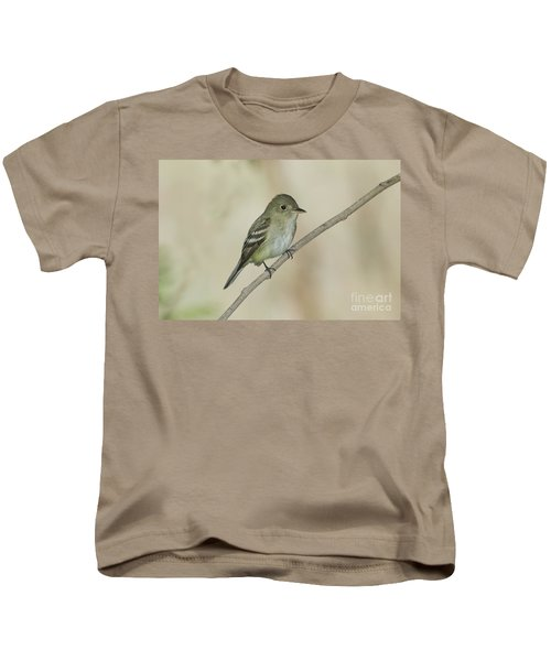 Acadian Flycatcher Kids T-Shirt by Anthony Mercieca