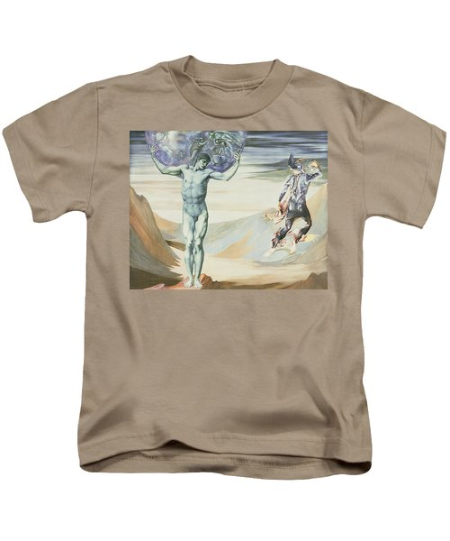 Atlas Turned To Stone, C.1876 Kids T-Shirt