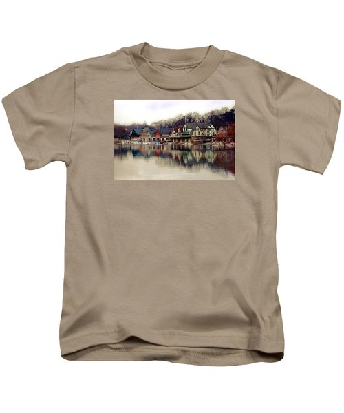 Boathouse Row Philadelphia Kids T-Shirt