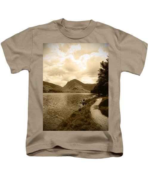 Buttermere Bright Sky Kids T-Shirt by Kathy Spall
