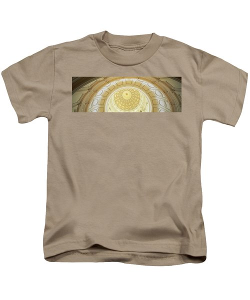Ceiling Of The Dome Of The Texas State Kids T-Shirt by Panoramic Images