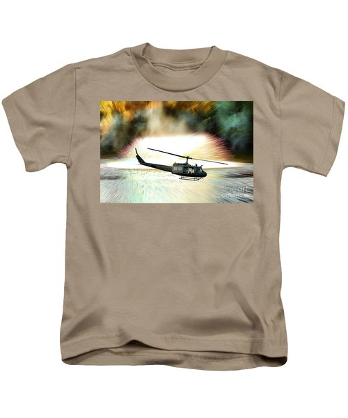 Combat Helicopter Kids T-Shirt