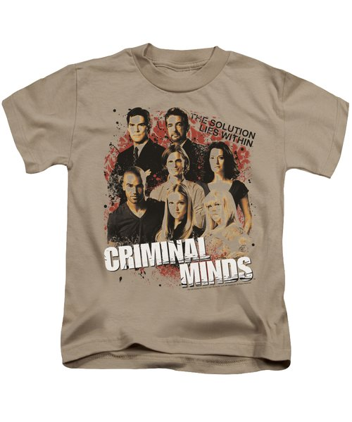 Criminal Minds - Solution Lies Within Kids T-Shirt