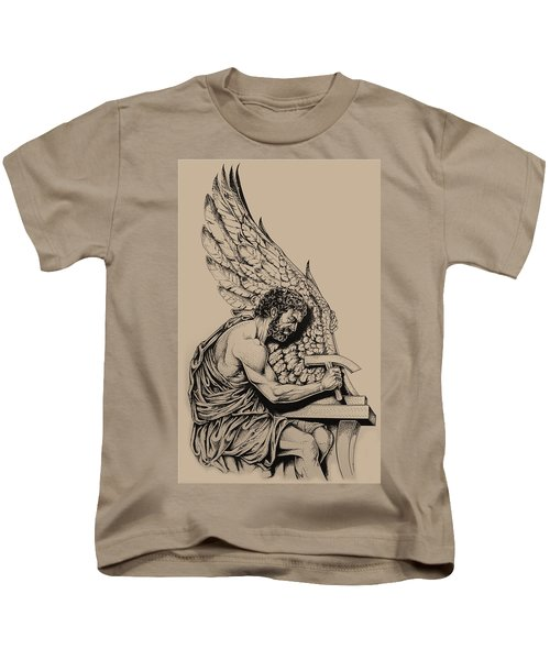 Daedalus Workshop Kids T-Shirt by Derrick Higgins