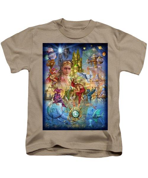 Fantasy Island Kids T-Shirt by Ciro Marchetti