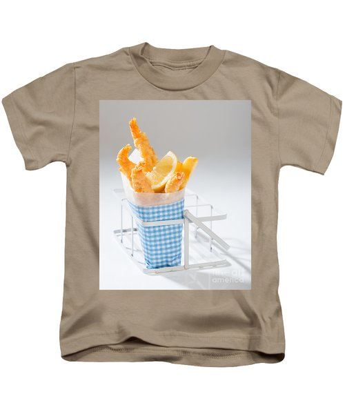 Fish And Chips Kids T-Shirt by Amanda Elwell