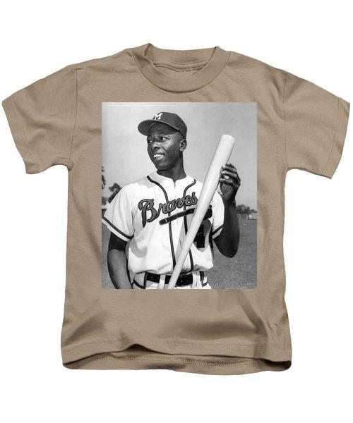 Hank Aaron Poster Kids T-Shirt