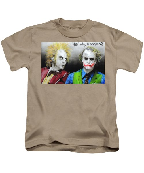 Hey, Why So Serious? Kids T-Shirt