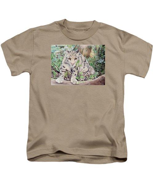 Hidden In Plain Sight - Clouded Leopard Kids T-Shirt