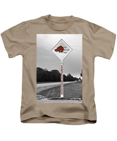 Hog Sign - Selective Color Kids T-Shirt