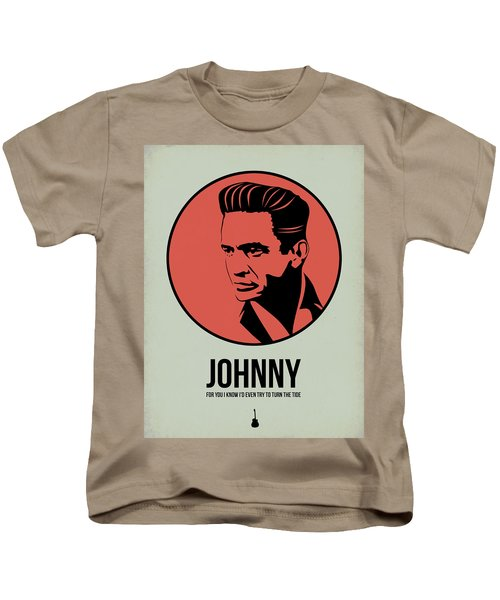 Johnny Poster 2 Kids T-Shirt by Naxart Studio