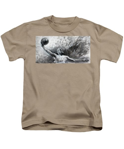 King James Lebron Kids T-Shirt by Ylli Haruni