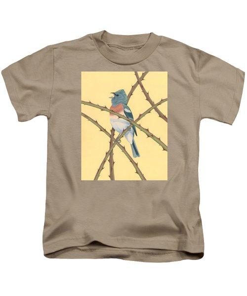 Lazuli Bunting Kids T-Shirt by Nathan Marcy