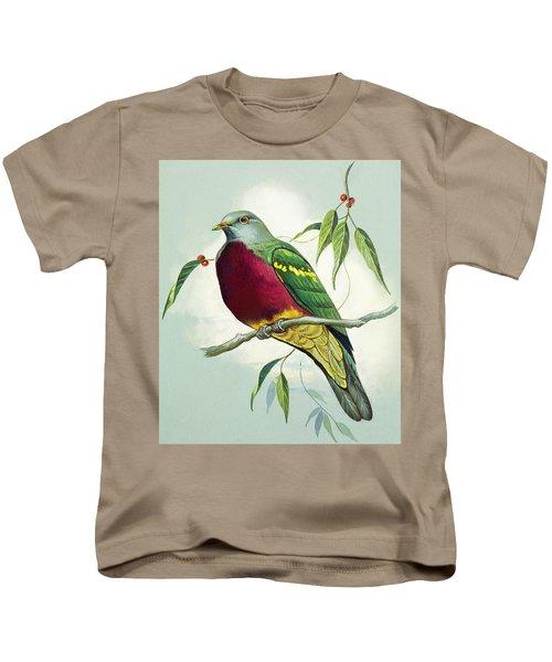 Magnificent Fruit Pigeon Kids T-Shirt by Bert Illoss