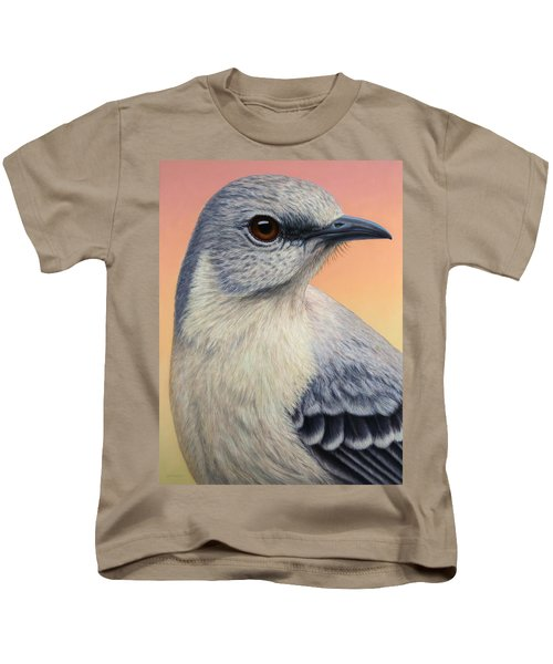 Portrait Of A Mockingbird Kids T-Shirt