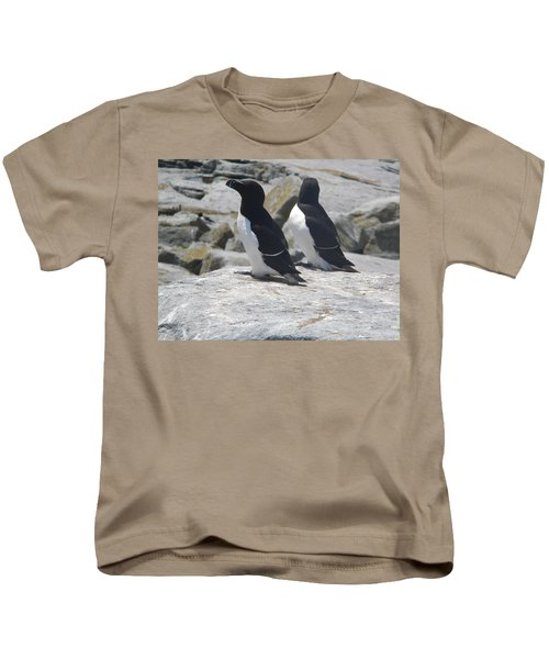 Razorbills 2 Kids T-Shirt by James Petersen