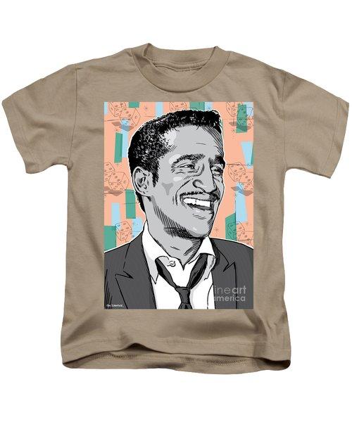 Sammy Davis Jr Pop Art Kids T-Shirt by Jim Zahniser