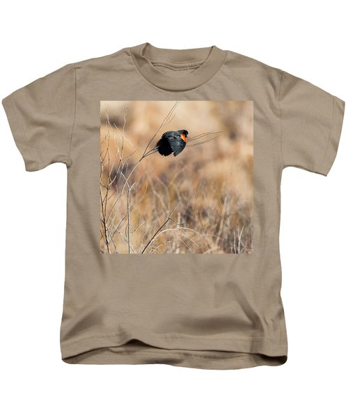 Springtime Song Square Kids T-Shirt by Bill Wakeley