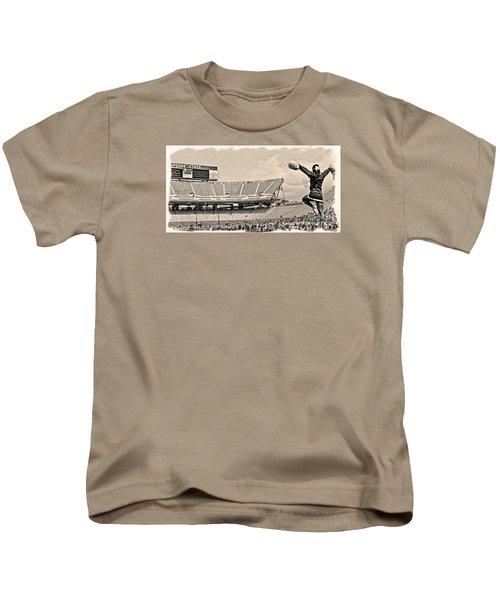 Stadium Cheer Black And White Kids T-Shirt