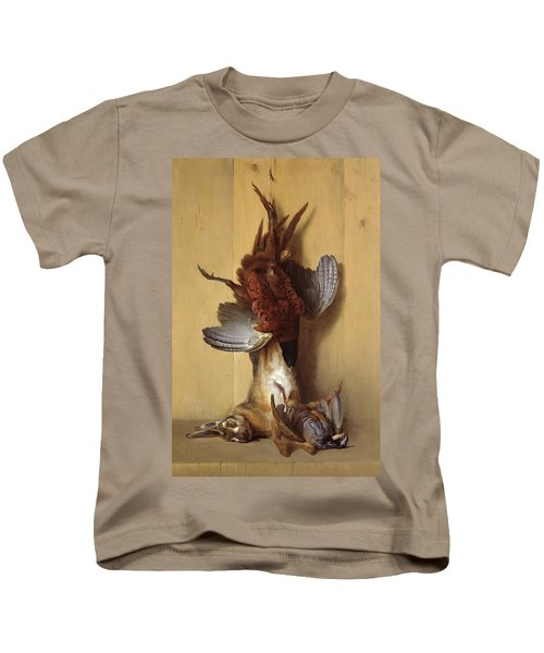 Still Life With A Hare, A Pheasant And A Red Partridge Kids T-Shirt