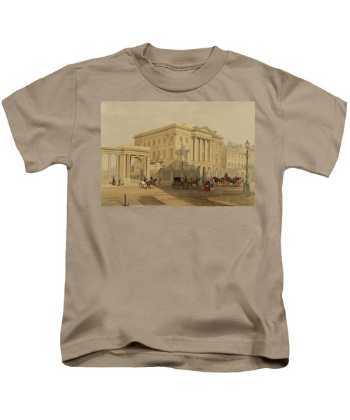 The Exterior Of Apsley House, 1853 Kids T-Shirt by English School