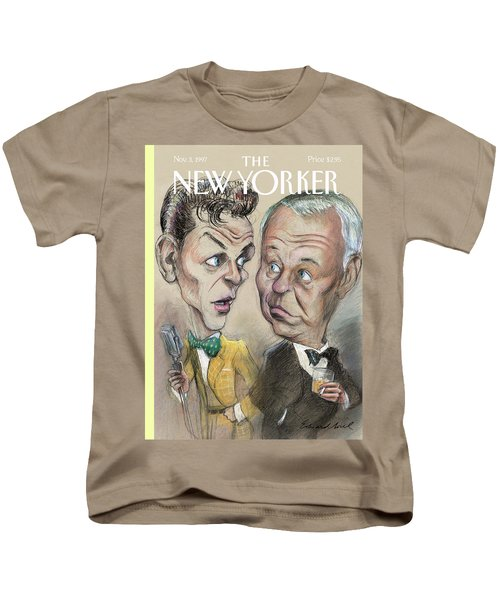 The Young Frank Sinatra Looking At The Old Frank Kids T-Shirt