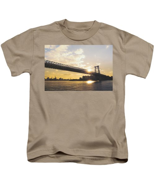 Williamsburg Bridge - Sunset - New York City Kids T-Shirt