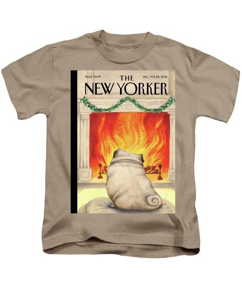 Yule Dog Kids T-Shirt