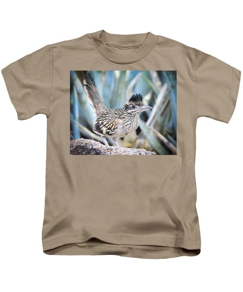 A Juvenile Greater Roadrunner  Kids T-Shirt by Saija  Lehtonen