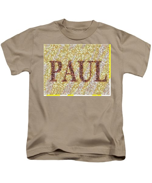 Custom Paul Mosaic Taylor Swift Kids T-Shirt by Paul Van Scott