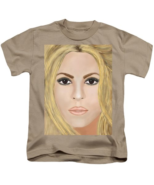 Shakira Kids T-Shirt by Mathieu Lalonde
