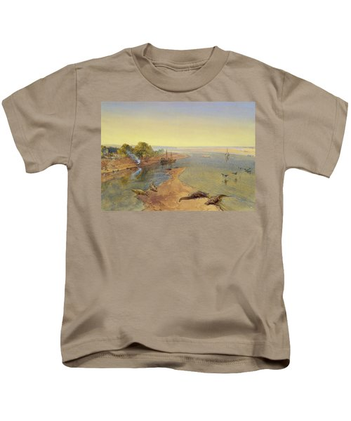 The Ganges Kids T-Shirt by William Crimea Simpson
