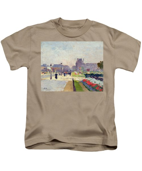 Avenue Paul Deroulede Kids T-Shirt by Jules Ernest Renoux