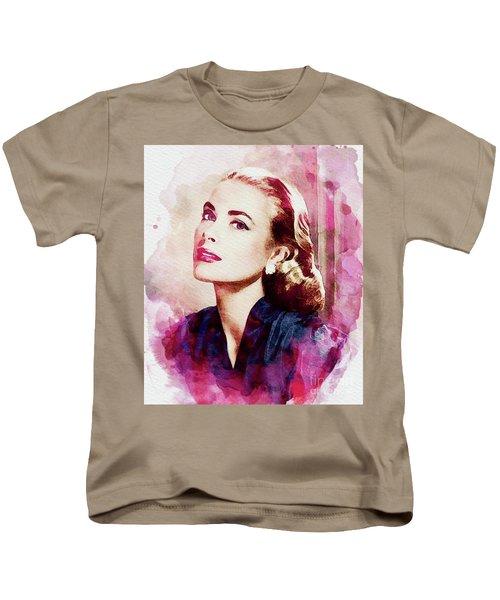 Grace Kelly, Vintage Actress Kids T-Shirt