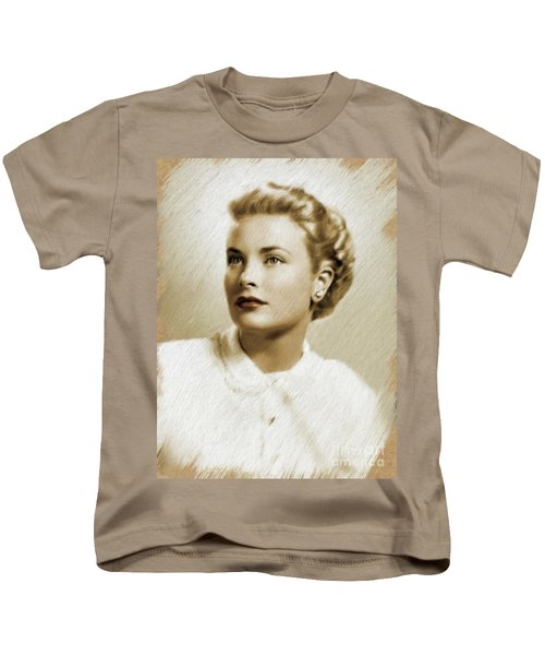 Grace Kelly, Vintage Actress Kids T-Shirt