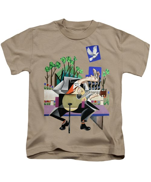 Music A Gift From The Holy Spirit Kids T-Shirt by Anthony Falbo
