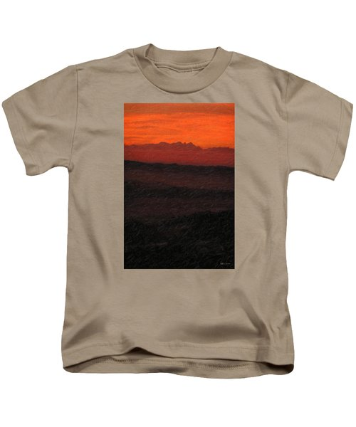Not Quite Rothko - Blood Red Skies Kids T-Shirt