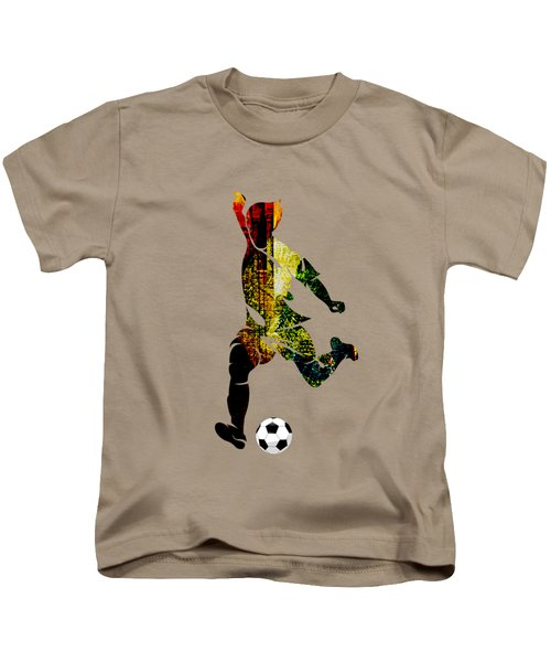 Soccer Collection Kids T-Shirt by Marvin Blaine